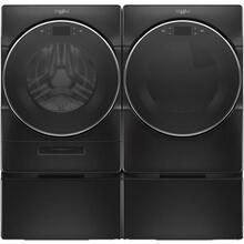 WHIRLPOOL Load & Go XL Plus Dispenser 5.0 Cu.Ft. Front Load Washer & 7.4 Cu.Ft. Electric Dryer with Pedestals - Black Shadow