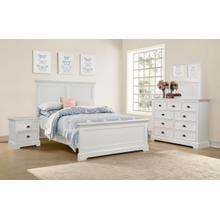 Queen Bed, White