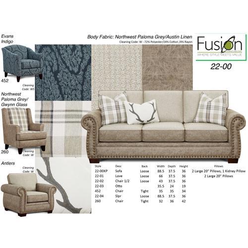 Fusion Furniture - Northwest Chair & 1/2