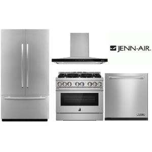 "JENNAIR 36"" GAS RANGE PACKAGE"