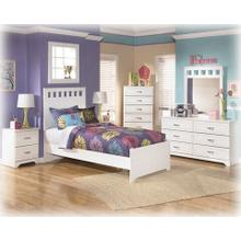 See Details - Twin Bed, Nightstand, Dresser, Mirror and Chest with Drawers