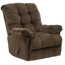 Umber Nettles Chaise Rocker Recliner with Deluxe Heat & Massage