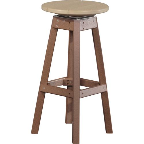 Bar Stool Weatherwood and Chestnut Brown