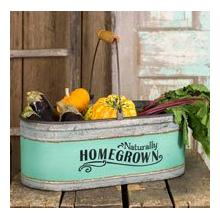 """Homegrown"" Bucket 16""W x 8""D x 7""T"