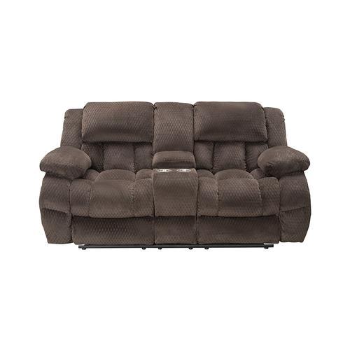 Vogue Home Furnishings - VOGUE PX2905-03 PX2905-02C PX2905-01G Comet Chocolate Reclining Sofa, Reclining Console Loveseat & Glider Recliner Group