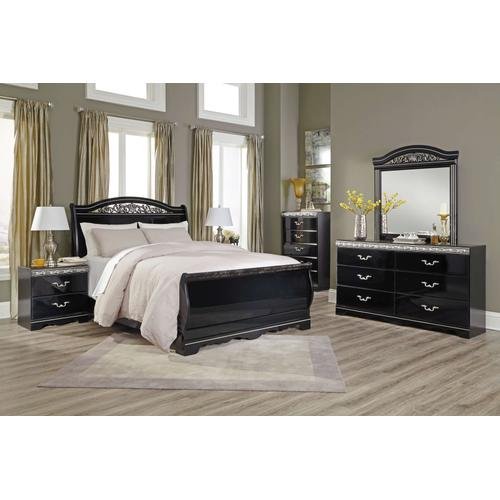 Constellations - Queen Sleigh Bed, Dresser, Mirror, & 1 x Nightstand