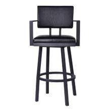 """Adrian"" Swivel Stool with Arms"