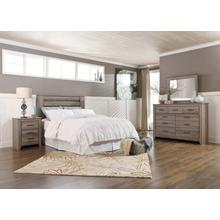 Zelen - Warm Gray 4 Piece Bedroom Set