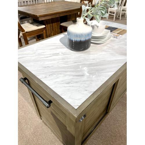 Hammery - Kitchen Island w/ Marble Top