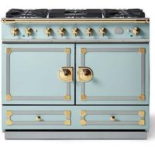 Roquefort Cornufe 110 with Polished Brass Accents