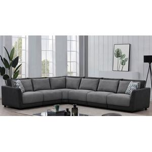 Seanna Two Tone Grey 5 Piece Sectional