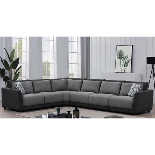 Packages - Seanna Two Tone Grey 5 Piece Sectional
