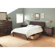 CAF Pacific King Storage Bed Caffe Finish