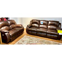 Valentino Chocolate Power Reclining Sofa & Loveseat