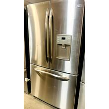See Details - USED- GE Profile ENERGY STAR® 20.7 Cu. Ft. French Door Refrigerator with External Water Dispenser- FD3SS36-U  SERIAL #29