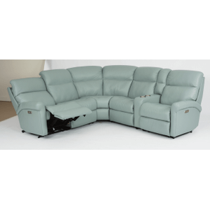 Davis Leather Reclining Console Sectional
