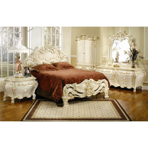 Luxurious, French Bedroom Suite includes Dresser, Mirror, & Queen Bed