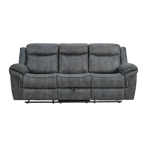 Simmons Upholstery - UNITED 59928-038-1X Sorrento Charcoal Reclining Sofa
