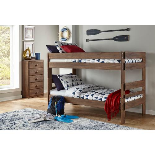 Chestnut Twin over Twin Bunk Bed