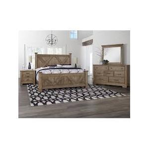 Cool Rustic X-Back Bedroom Group Set