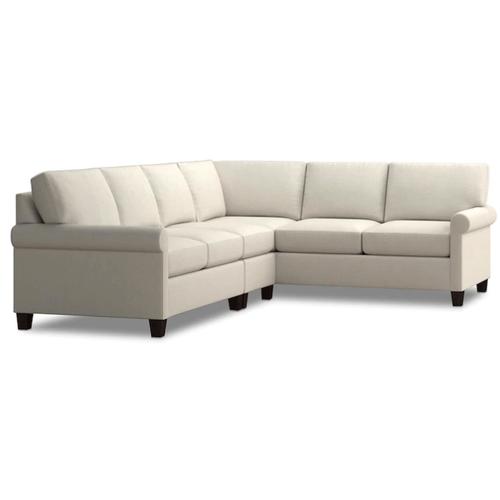 Bassett Furniture - Spencer Left Sectional - Cream Fabric