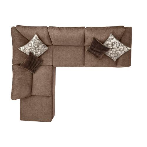 "Hughes Furniture - HUGHES FURNITURE 1100LFCHS 1100RFS Angora Tabby 112"" Left Hand Facing Sectional Sofa"
