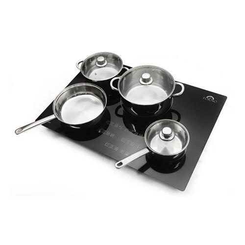 "30"" Cook Top Induction: Glass Black 4 Burner 6,7,8,10"