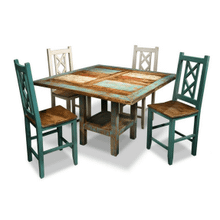 Bombay Counter Height Dinning Table & Cross-Back Chairs