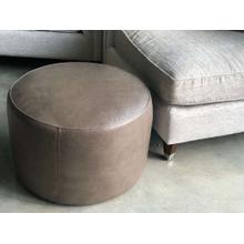 Chad Round Leather Ottoman