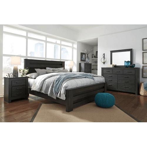 Brinxton- Black- 7 Pc.- Dresser, Mirror, Chest, Nightstand & King Panel Bed