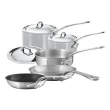 Mauviel M'Cook Stainless Steel Cookware Set 8 Pieces With Cast Stainless Steel Handles