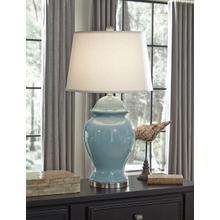 See Details - Darena Blue Table Lamp Model# L100494