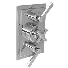 Cross handle thermostatic with lever flow control and 2-way diverter trim only, to suit M1-4203 rough