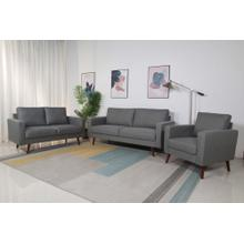 8122 3PC LIGHT GRAY Linen Stationary Basic Living Room SET