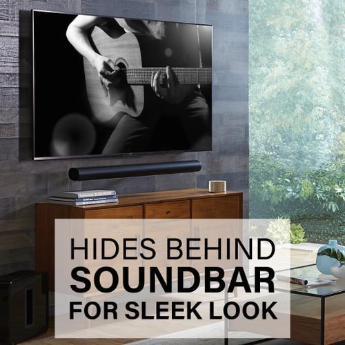 Black SANUS Extendable Soundbar Wall Mount Designed For Sonos Arc Sound bar