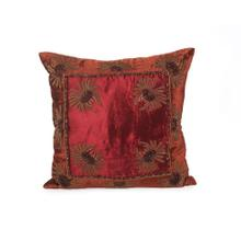 Burnt Orange and Wine Pillow