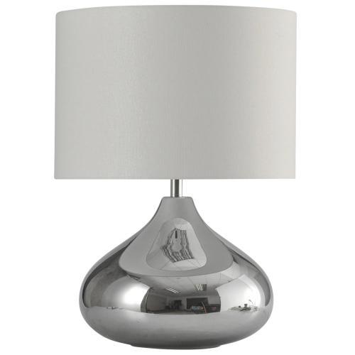 Product Image - Smoke  Chrome Finish Glass Transitional Table Lamp