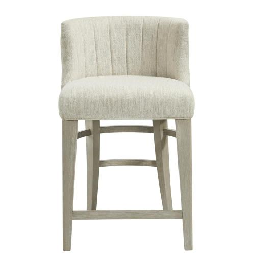 Cascade - Upholstered Curved Back Counter Stool - Dovetail Finish