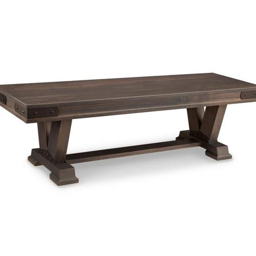 """- Chattanooga 60"""" Pedestal Bench with Wood Seat"""