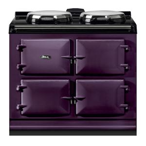 "AGAAGA Dual Control 39"" Electric/Natural Gas Aubergine with Stainless Steel trim"