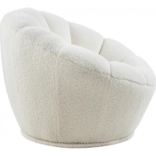 """Dream Faux Sheepskin Fur Accent Chair - 34"""" W x 32.5"""" D x 25"""" H"""