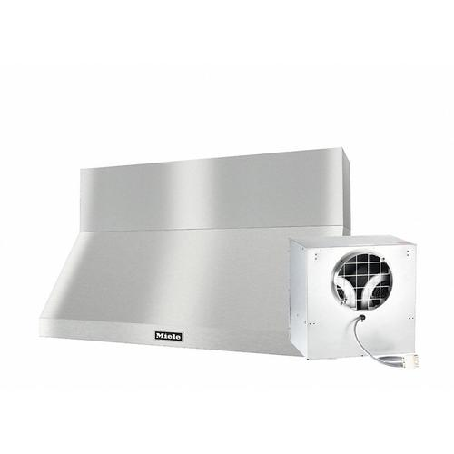 """DAR 1250 Set 6 Wall-Mounted Range Hood with Extraction Mode with external XXL motor including 12"""" chimney cover."""