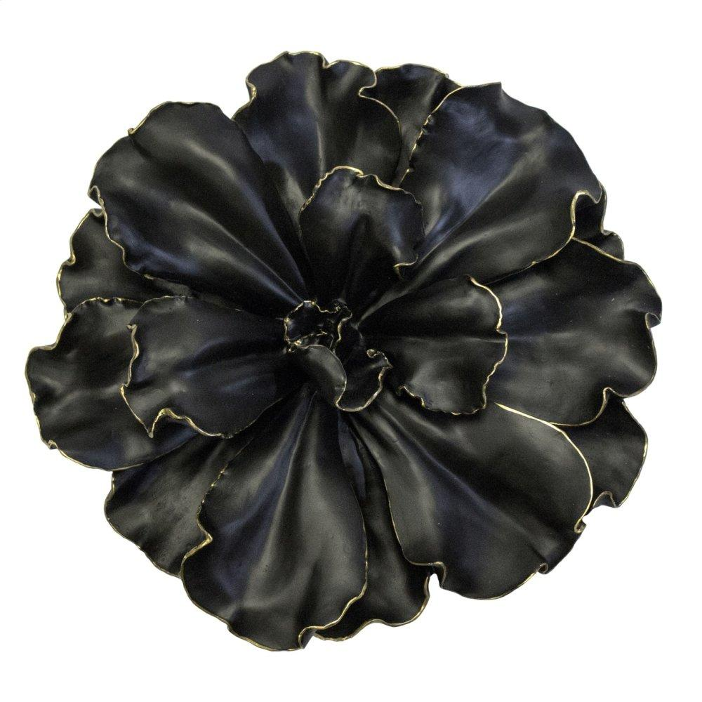 Black/gold Wall Flower 20""