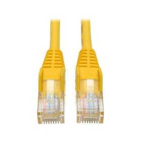 Cat5e 350 MHz Snagless Molded (UTP) Ethernet Cable (RJ45 M/M) - Yellow, 15 ft.