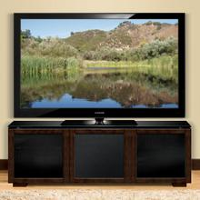 Chic European Deep Brown Finish Wood Audio/Video Cabinet