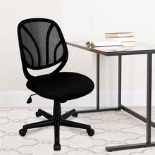 View Product - Y-GO Office Chair™ Mid-Back Black Mesh Swivel Task Office Chair