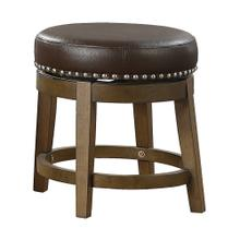 Round Swivel Stool, Brown