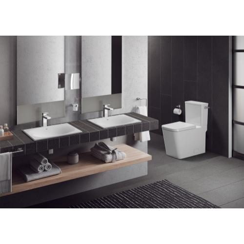 Product Image - Eurocube Two-piece Right Height Elongated Toilet With Seat, Right-hand Trip Lever