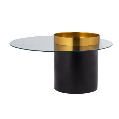 Merigold Round Metal & Glass Cocktail Table