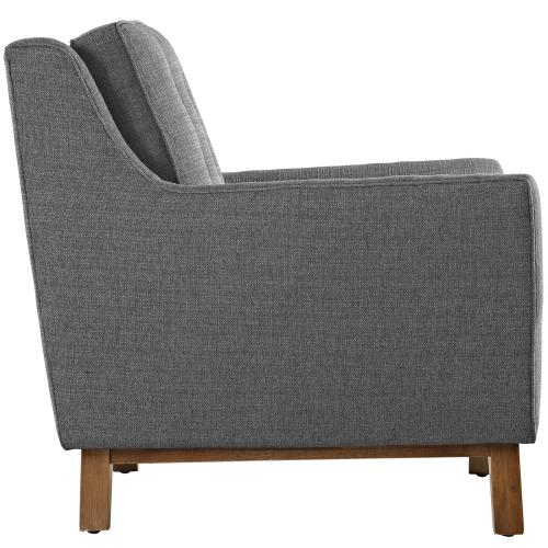 Beguile Upholstered Fabric Armchair in Gray